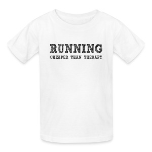 Running - Cheaper Than Therapy Kid's T-Shirt - Kids' T-Shirt