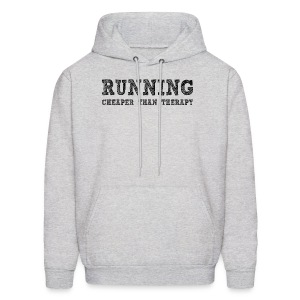 Running - Cheaper Than Therapy Men's Hoodie - Men's Hoodie