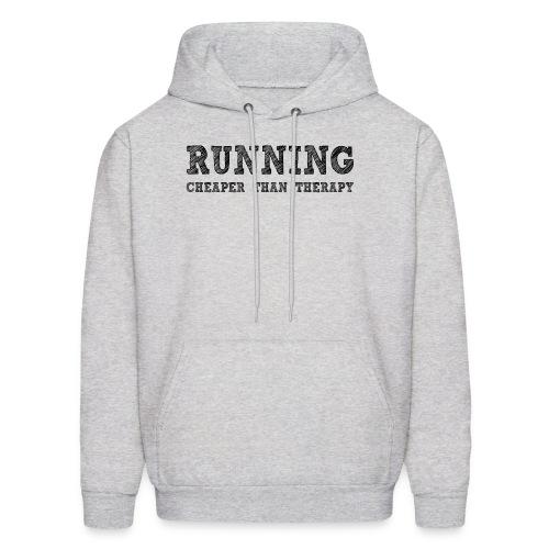 Running - Cheaper Than Therapy Men's Hoodie - Men's Hoodie