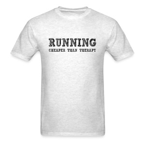 Running - Cheaper Than Therapy Men's Standard Weight T-Shirt - Men's T-Shirt