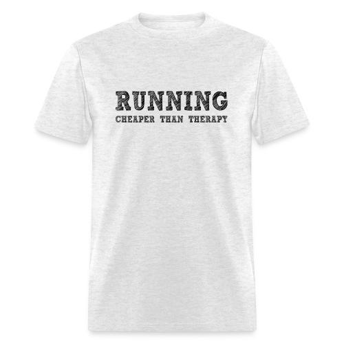 Running - Cheaper Than Therapy Men's Standard Weight T-Shirt - Men's T-Shirt