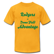 T-Shirts ~ Men's T-Shirt by American Apparel ~ Rodgers = Dome Field Advantage