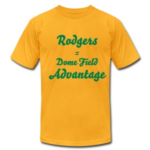 Rodgers = Dome Field Advantage - Men's T-Shirt by American Apparel