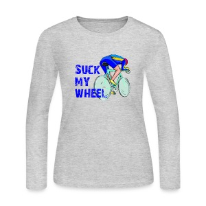 Suck My Wheel Women's Long Sleeve Jersey Tee - Women's Long Sleeve Jersey T-Shirt