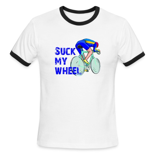 Suck My Wheel Men's Lightweight Ringer Tee - Men's Ringer T-Shirt