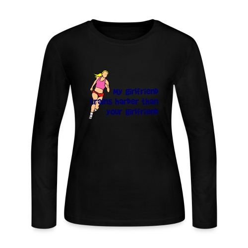 My Girlfriend Trains Harder Women's Long Sleeve Jersey Tee - Women's Long Sleeve Jersey T-Shirt