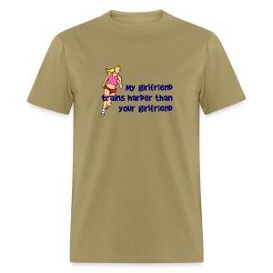 My Girlfriend Trains Harder Men's Standard Weight T-Shirt - Men's T-Shirt