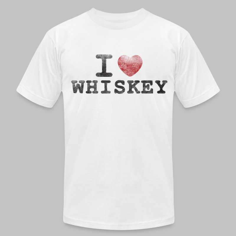 I Heart Whiskey - Men's T-Shirt by American Apparel