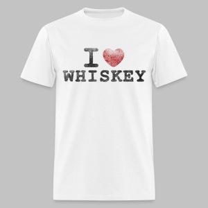 I Heart Whiskey - Men's T-Shirt