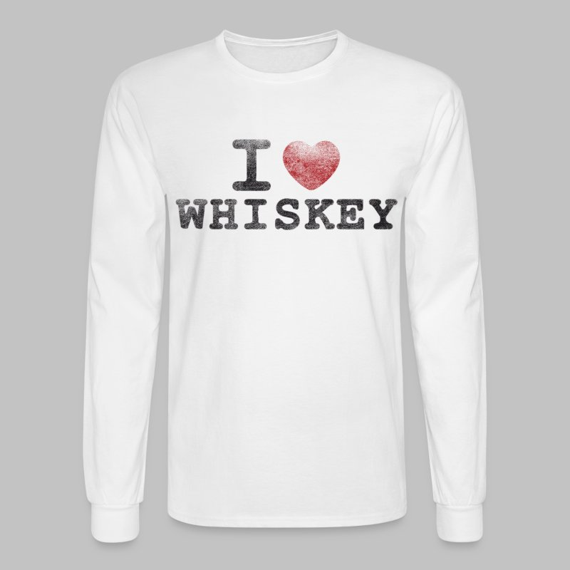 I Heart Whiskey - Men's Long Sleeve T-Shirt