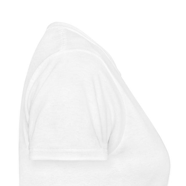 Female White FLuffee Shirt.