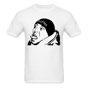 Male White FLuffee Shirt. - Men's T-Shirt