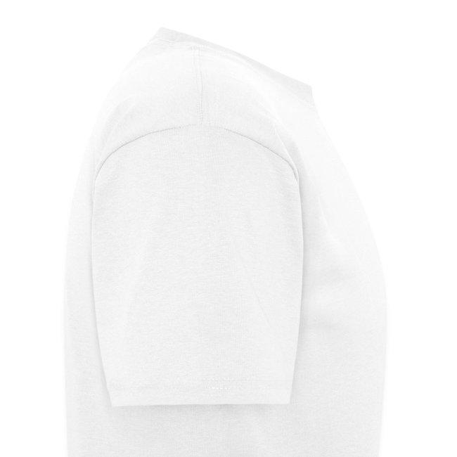 Male White FLuffee Shirt.