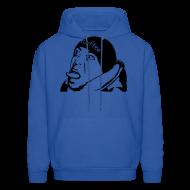Hoodies ~ Men's Hoodie ~ Mens Blue FLuffee Hoodie.