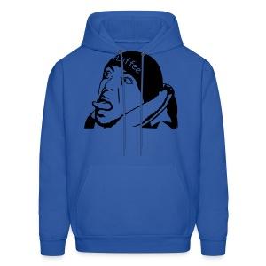 Mens Blue FLuffee Hoodie. - Men's Hoodie