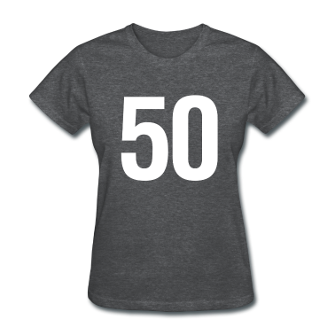 helvetica number 50 Women's T-Shirts