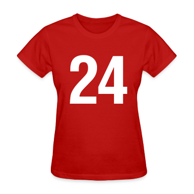helvetica number 24 Women's T-Shirts