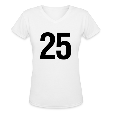 helvetica number 25 Women's T-Shirts