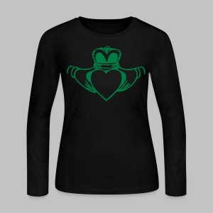 Irish Claddagh  - Women's Long Sleeve Jersey T-Shirt