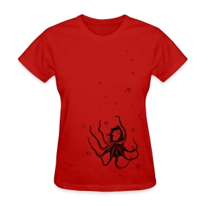 Womens Octogirl black print tee - Women's T-Shirt