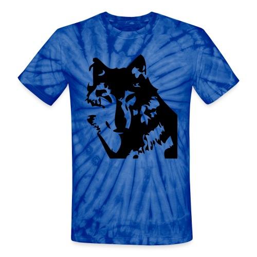 Wolf Print Tye Dye - Unisex Tie Dye T-Shirt