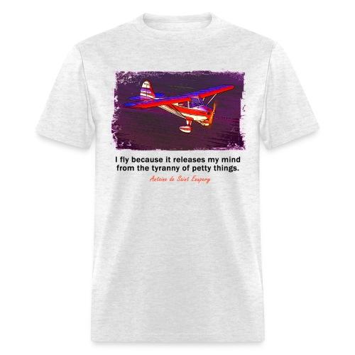 Men's Standard Weight T-Shirt - Tailwheel Airplane - English Quote - Men's T-Shirt