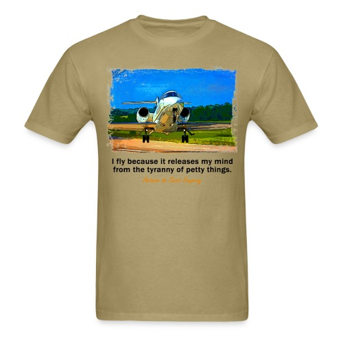 Men's Standard Weight T-Shirt - Jet - English Quote - Men's T-Shirt