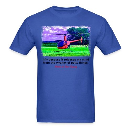 Men's Standard Weight T-Shirt - Helicopter - English Quote - Men's T-Shirt