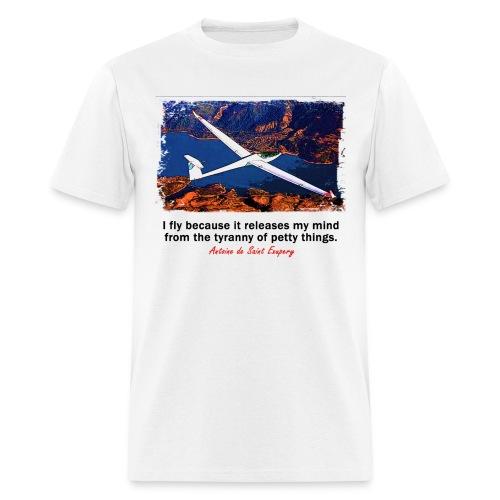 Men's Standard Weight T-Shirt - Glider - English Quote - Men's T-Shirt