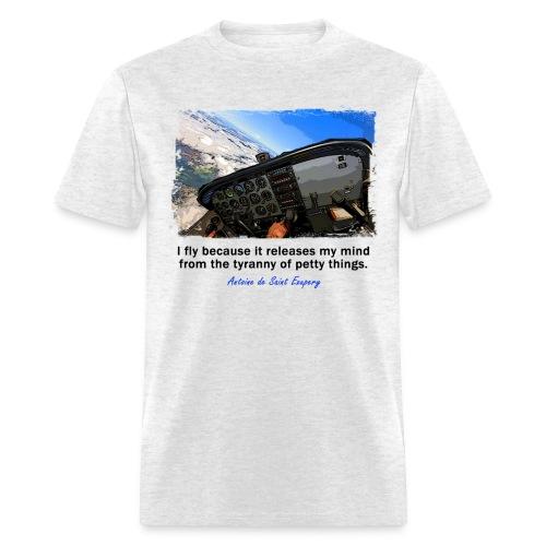 Men's Standard Weight T-Shirt - Cockpit - English Quote - Men's T-Shirt