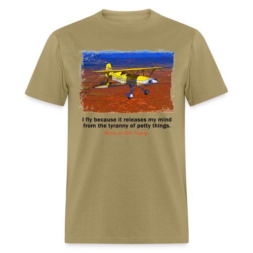 Men's Standard Weight T-Shirt - Biplane - English Quote - Men's T-Shirt