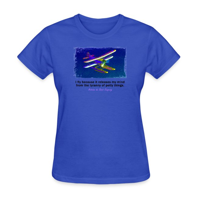 Women's Standard Weight T-Shirt - Seaplane - English Quote