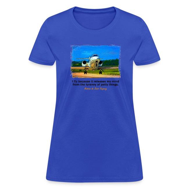Women's Standard Weight T-Shirt - Jet - English Quote