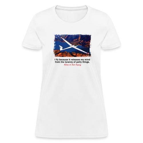 Women's Standard Weight T-Shirt - Glider - English Quote - Women's T-Shirt