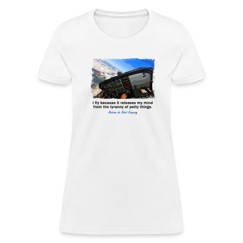 Women's Standard Weight T-Shirt - Cockpit - English Quote - Women's T-Shirt