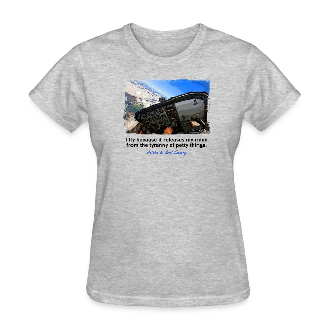 Women's Standard Weight T-Shirt - Cockpit - English Quote