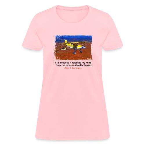 Women's Standard Weight T-Shirt - Biplane - English Quote - Women's T-Shirt