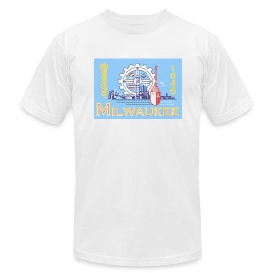 Milwaukee Flag - Men's T-Shirt by American Apparel