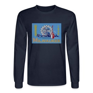 Milwaukee Flag - Men's Long Sleeve T-Shirt