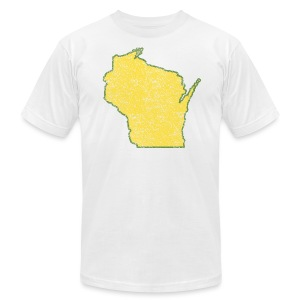 Wisconsin Distressed - Men's T-Shirt by American Apparel