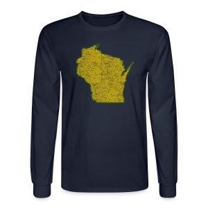 Wisconsin Distressed - Men's Long Sleeve T-Shirt