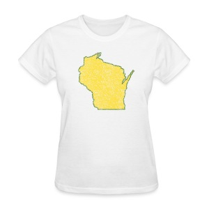 Wisconsin Distressed - Women's T-Shirt