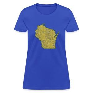 Wisconsin Distressed - Women's T-Shirt
