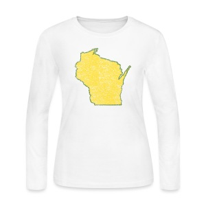Wisconsin Distressed - Women's Long Sleeve Jersey T-Shirt