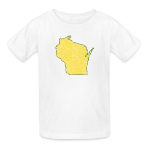 Wisconsin Distressed - Kids' T-Shirt