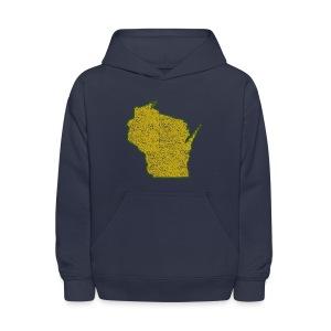 Wisconsin Distressed - Kids' Hoodie