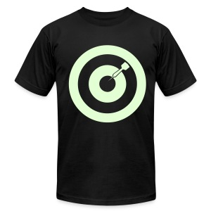 Bull's Eye Printed Jersey (Glow) - Men's T-Shirt by American Apparel