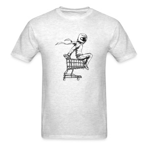 Kart Racer Black and White - Men's T-Shirt