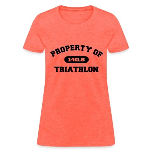 Property of Triathlon 140.6 - Women's Standard Weight T-Shirt - Women's T-Shirt
