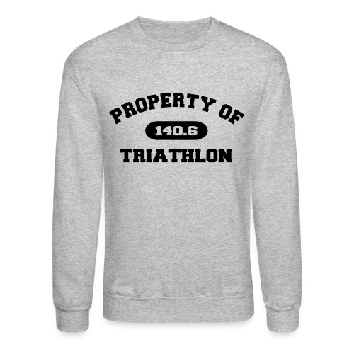 Property of Triathlon 140.6 - Men's Crewneck Sweatshirt - Crewneck Sweatshirt